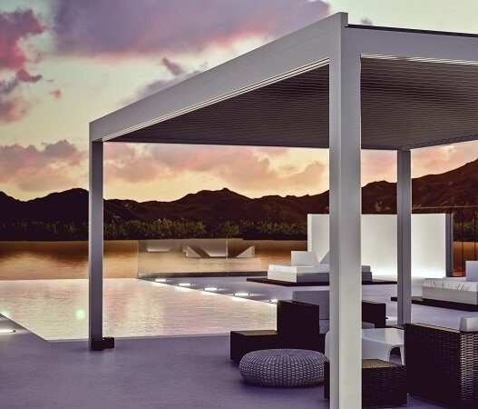 pergola-siwah-bioclimatica-sahara-blanco-atardecer-lago-terraza