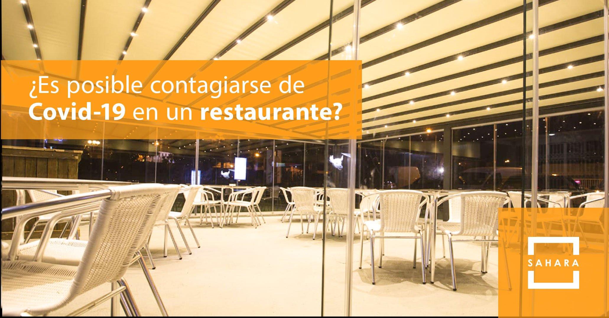 ¿Es posible contagiarse de Covid-19 en un restaurante?